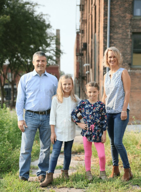 Dr. Burhoop with his wife and two daughters